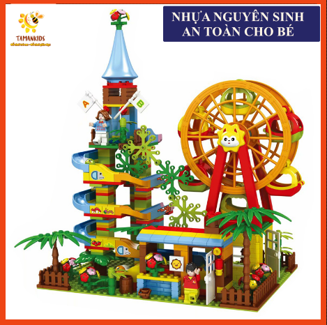 [GIÁ SẬP SÀN]🎡🎡Bộ Lego Tháp Cầu Trượt Siêu Đẹp Gồm 469 Chi Tiết Cho Bé, đồ chơi lego, đồ chơi, đồ chơi lego giá rẻ