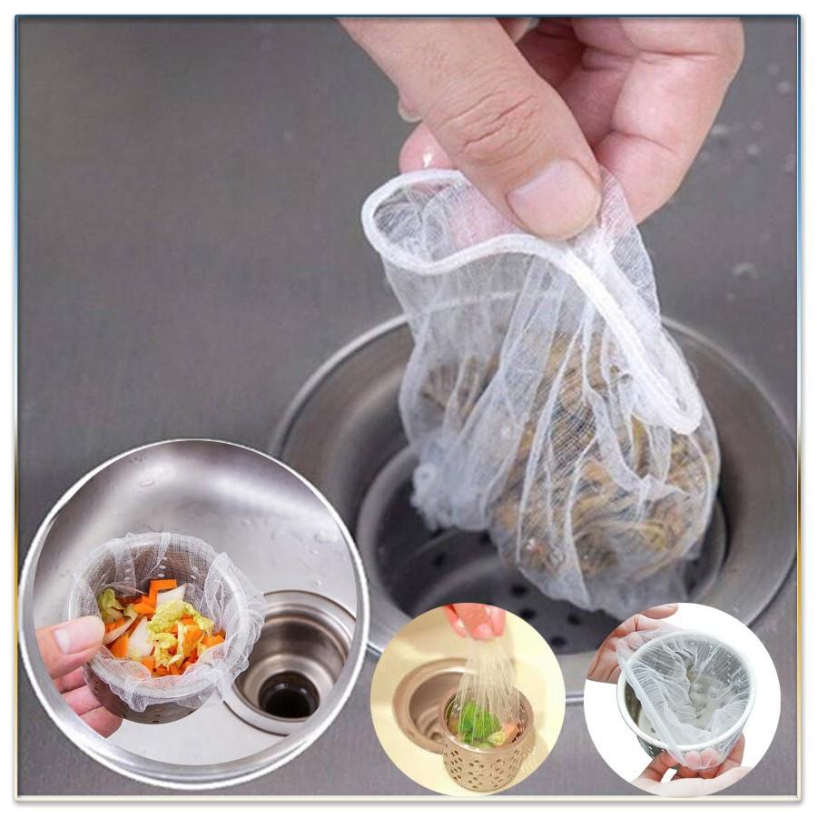 Combo 100 túi lọc rác bồn rửa chén