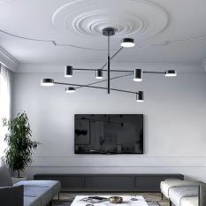 Đèn trần, đèn thả trần, đèn chùm 8 Led điều chỉnh 360 độ linh hoạt trang trí phòng khách, phòng ăn, phòng tiệc bàn ăn cao cấp DH-DH0012