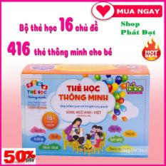 Bộ 416 thẻ học song ngữ anh – việt cho bé Bộ thẻ Song Ngữ Anh – Việt (có phiên âm) 16 chủ đề và Sét 2 sách luyện chữ đẹp
