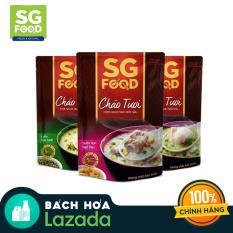 Combo 3 gói cháo tươi Sài Gòn Food 270g (vị lươn, cá lóc, sườn)