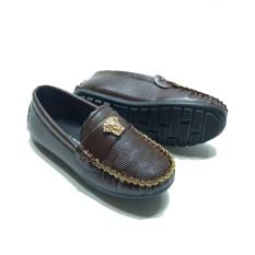 Giày Lười Giày Mọi cho bé trai màu đen và nâu( khóa mặt hổ)