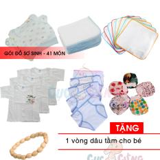 Gói đồ sơ sinh 41 món cho bé (TRAI/GÁI) – Baby Chick 0-3 tháng Tặng 1 vòng dâu tằm cho bé