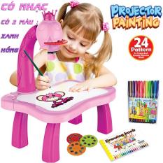 (CÓ NHẠC,TẶNG BỘ BÚT MÀU) Bàn vẽ thông minh cho bé,bàn vẽ máy chiếu với 24 hình ảnh ngộ nghĩnh nâng cao tư duy cho bé , bàn vẽ đèn cho bé giải trí và rèn luyện tính kiên nhẫn khi ở nhà