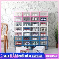 Combo 8 Hộp Đựng Giày Dép Loại 1, Nắp Nhựa Cứng Trong Suốt, Tu Giay Dep – Hàng Có Sẵn (Size Lớn Tặng Gói Hút Ẩm)
