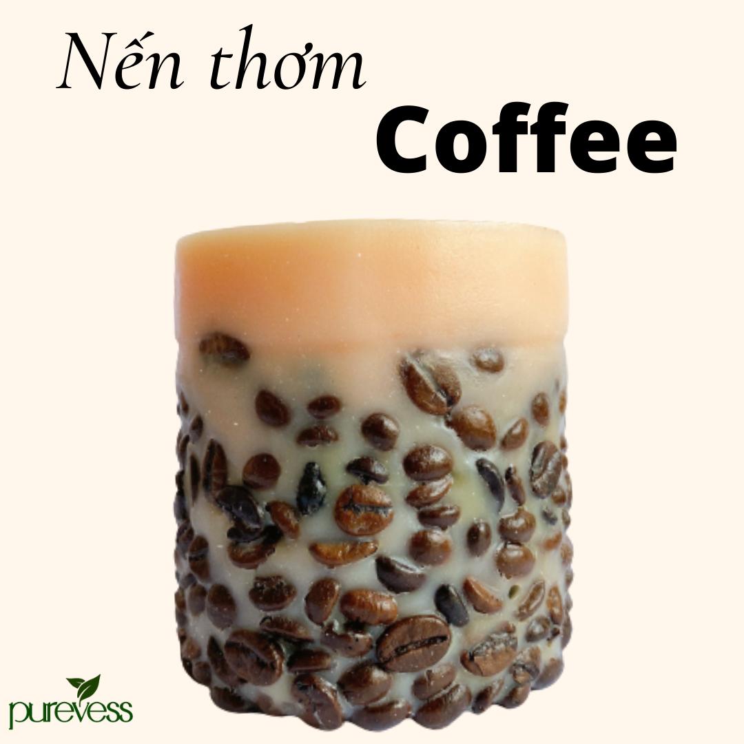 [Quà Noel] Nến thơm Café Purevess giúp thư giãn, giảm căng thẳng và tăng cường sự tập trung. 200gr