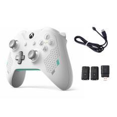 Tay Cầm Xbox One S White Sport – Tặng kèm 2 pin sạc 2a (Dobe) – Tặng Cable Usb – Hàng nhập khẩu