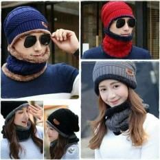 Mũ len trùm khăn giữ ấm, chống lạnh, mềm mại, thoải mái