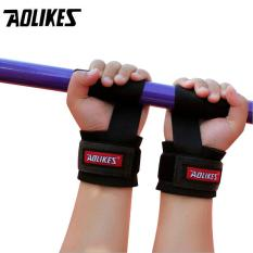 Dây đeo cổ tay tập gym nâng tạ cao cấp Sports Fitness Protection Help Wristbands AOLIKES A-7638