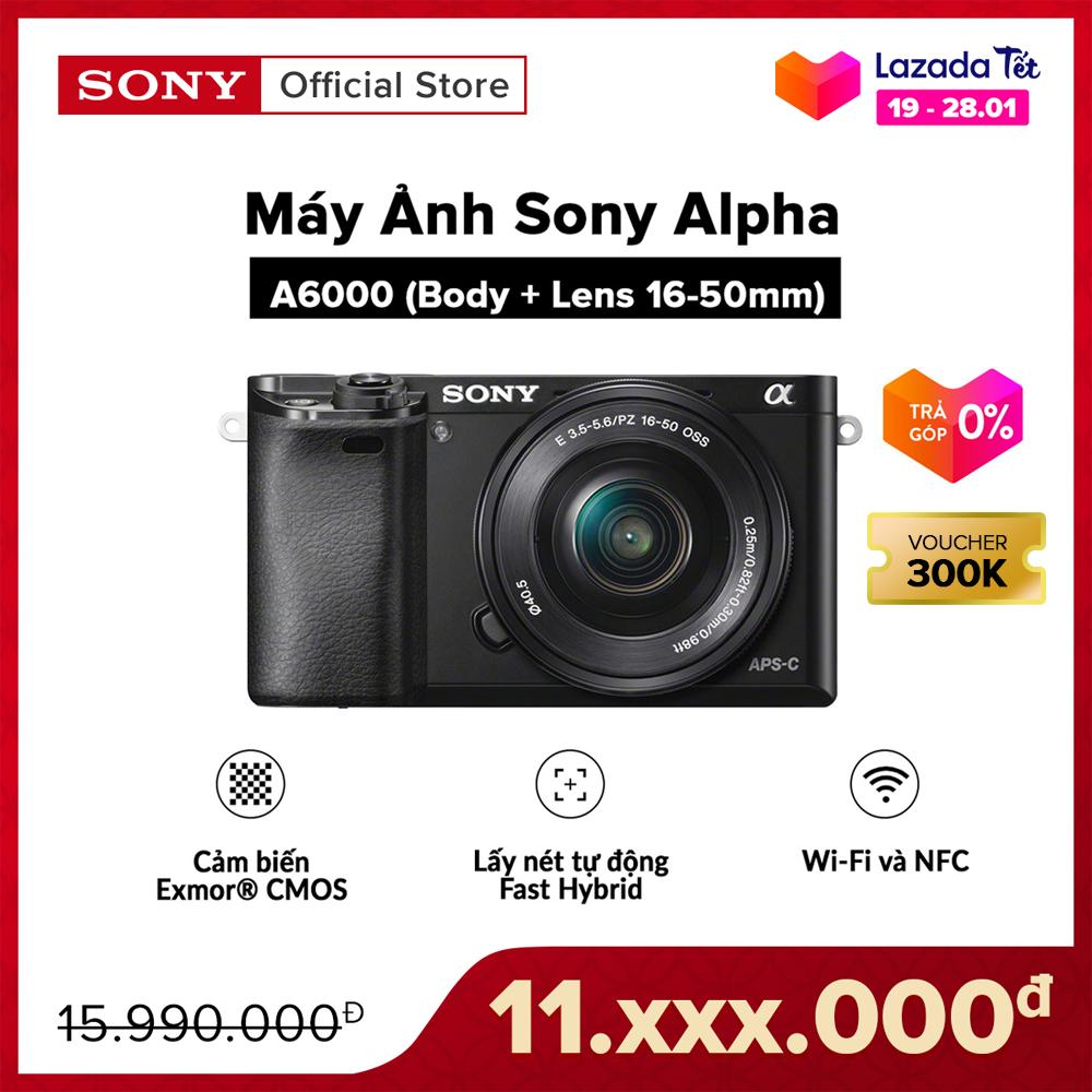 [VOUCHER 300K – TRẢ GÓP 0%] Máy Ảnh Sony Alpha A6000 + 16-50mm Bộ xử lý hình ảnh: BIONZ X Cảm biến: APS HD (kèm thẻ nhớ và túi máy ảnh)