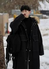 Áo khoác Parka K.R, JACK LANE, jackets nam nữ Unisex Jack Lane dài tay form rộng dáng Hàn mũ lông dày ấm