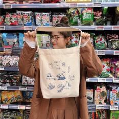 [Mẫu Hot Trend]Túi tote vải cỡ lớn đeo vai hình trái cây siêu hot phong cách Hàn Quốc dễ phối đồ-BALOHA