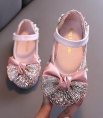 Giầy nơ gắn đá siêu sang chảnh cho bé yêu -giày búp bê bé gái – giày công chúa – giày hót nhất 2020 cho bé
