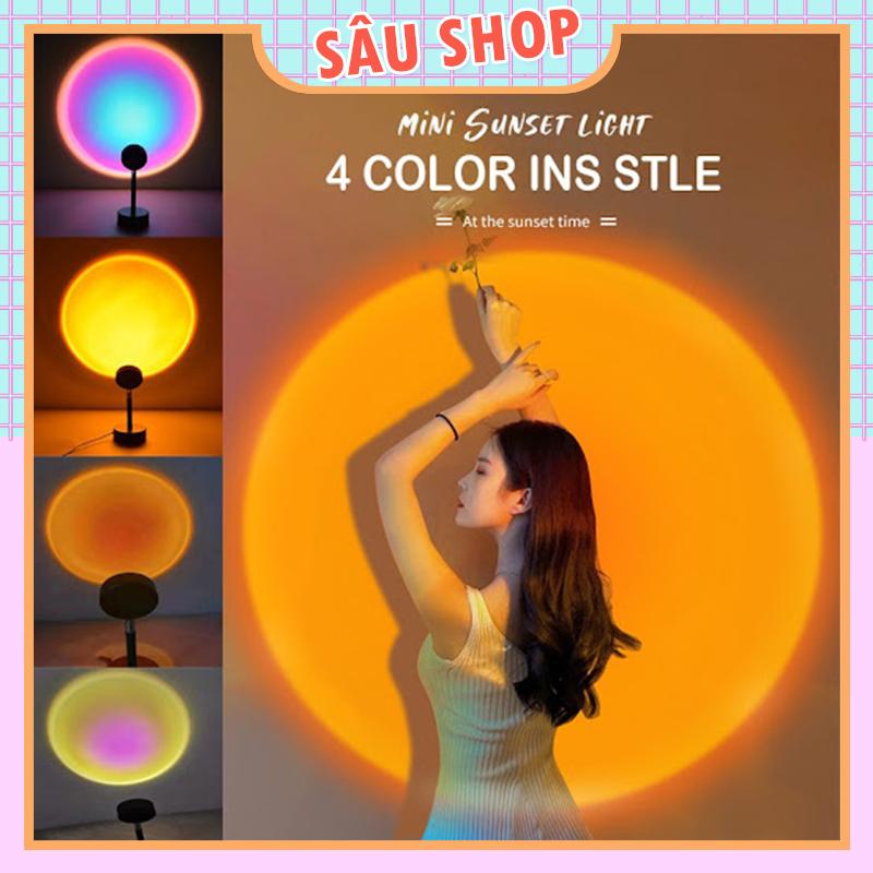 Đèn Led Chiếu Sáng Hoàng Hôn, Cầu Vồng, Mặt Trời - Siêu Hot TikTok (4 màu tiện dụng)