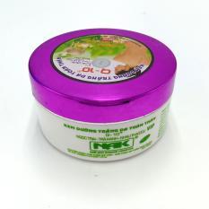 Kem dưỡng trắng da toàn thân Ngọc trai – Trà xanh – Nhau thai cừu Q10 200g (Tím – Trắng)