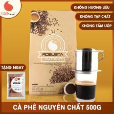 Cà phê bột nguyên chất , loại Robusta Đặc biệt , vị đậm , đắng , mạnh , không tẩm ướp hương liệu , Light Coffee , 500g