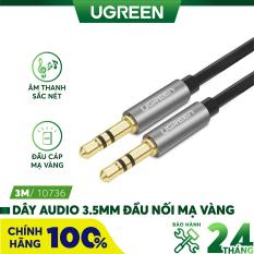 Dây Audio 3.5mm 2 đầu đực dạng cáp tròn mạ Vàng 24K TPE UGREEN AV119 – Hãng phân phối chính thức