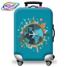 { HÀNG MỚI VỀ } Áo trùm vali – vải bọc trùm vali co giản 3D in hình Shalla – Size S ( 18 – 20 icnh ) – Size M ( 22 – 24 icnh )