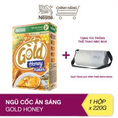 [Tặng túi trống thể thao NBC Box] Ngũ cốc ăn sáng Gold Honey (hộp 220g)