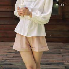 MAYBI – Quần short gập lai Tie-Belt Blend Short