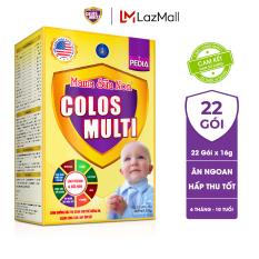 Sữa non Colosmulti Pedia chuyên biệt cho trẻ biếng ăn chậm tăng cân, hộp 22 gói x 16g, dành cho trẻ 6 tháng – 10 tuổi