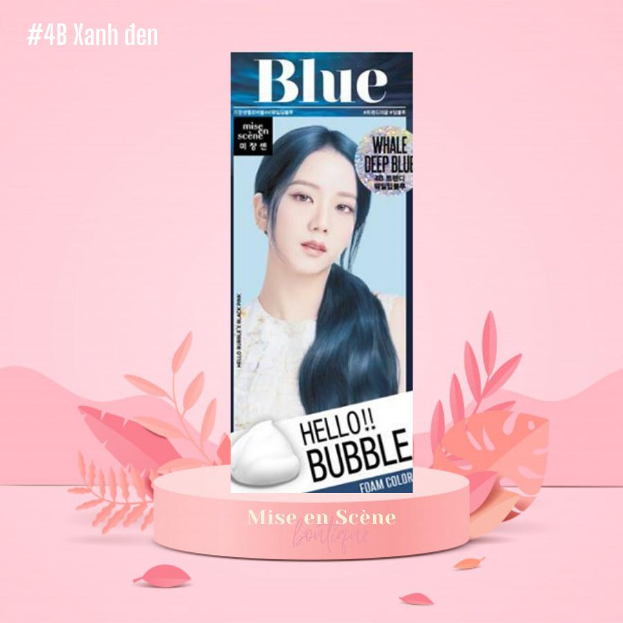 Thuốc Nhuộm Tóc Hello Bubble Foam – Chính hãng Mise En Scene mẫu BlackPink – Màu xanh biển