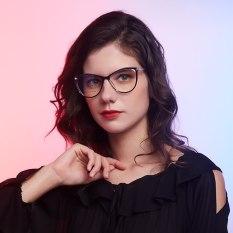 【DayDay Shop】EriLS Ánh sáng đèn phòng thủ nữ Kính Mắt hình vuông Phòng máy tính Màu xanh Mắt tinh hoàn nữ gót giày cao gót De Mujer