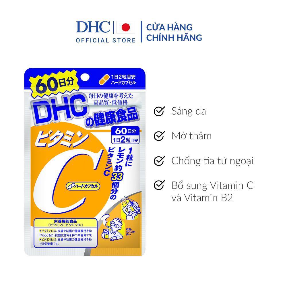 Viên uống DHC bổ sung vitamin C 60 ngày của Nhật Bản