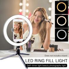 Đèn led livestream 26cm (Φ26) 3 chế độ đèn tích hợp giá đỡ điện thoại KHÔNG KÈM GIÁ ĐỠ