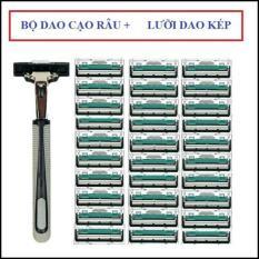 Bộ dao cạo râu lưỡi kép 38 món cho nam giới – Trọn bộ gồm 1 thân dao, 36 lưỡi dao kép, 1 tuýp kem cạo râu tiện lợi