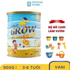 Lon sữa bột Abbott Grow 3+ 900g Tặng Bộ đồ chơi làm vườn