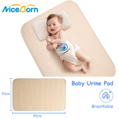 Thảm lót chống thấm 4 lớp di động NiceBorn giúp chống nước tiểu mồ hôi có thể gấp lại và giặt được dành cho trẻ sơ sinh/trẻ mới biết đi/thú cưng – INTL