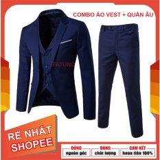 [SIÊU RẺ] Set 3 món áo vest+quần âu+ áo gile nam mỏng mát soái ca dáng Hàn Quốc