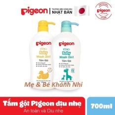 SỮA TẮM GỘI PIGEON TOÀN THÂN CHO BÉ – 700ML