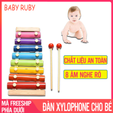 Đàn Xylophone Cho Bé – Đồ Chơi Nhạc Cụ Trẻ Em, 8 Âm, Phát Triển Trí Não – Đồ Chơi Nhạc Cụ, Đồ Chơi Trẻ Em, Đồ Chơi Gỗ, Đàn Gõ Xylophone, Đan Xylophone Cho Be – Baby Ruby