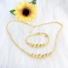 Bộ trang sức vàng 18k Migashop VB210071928 – dùng đi tiệc cực kì sang chảnh