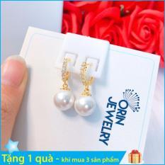 Bông tai thời trang nữ đính châu thiết kế thời trang Orin T518