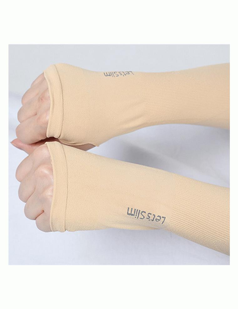 Găng tay chống nắng xỏ ngón Let's Slim