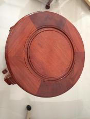 Ghế đôn tròn chân chạm rồng, gỗ hương, mặt ghế 34cm, cao 80cm, chân có đế