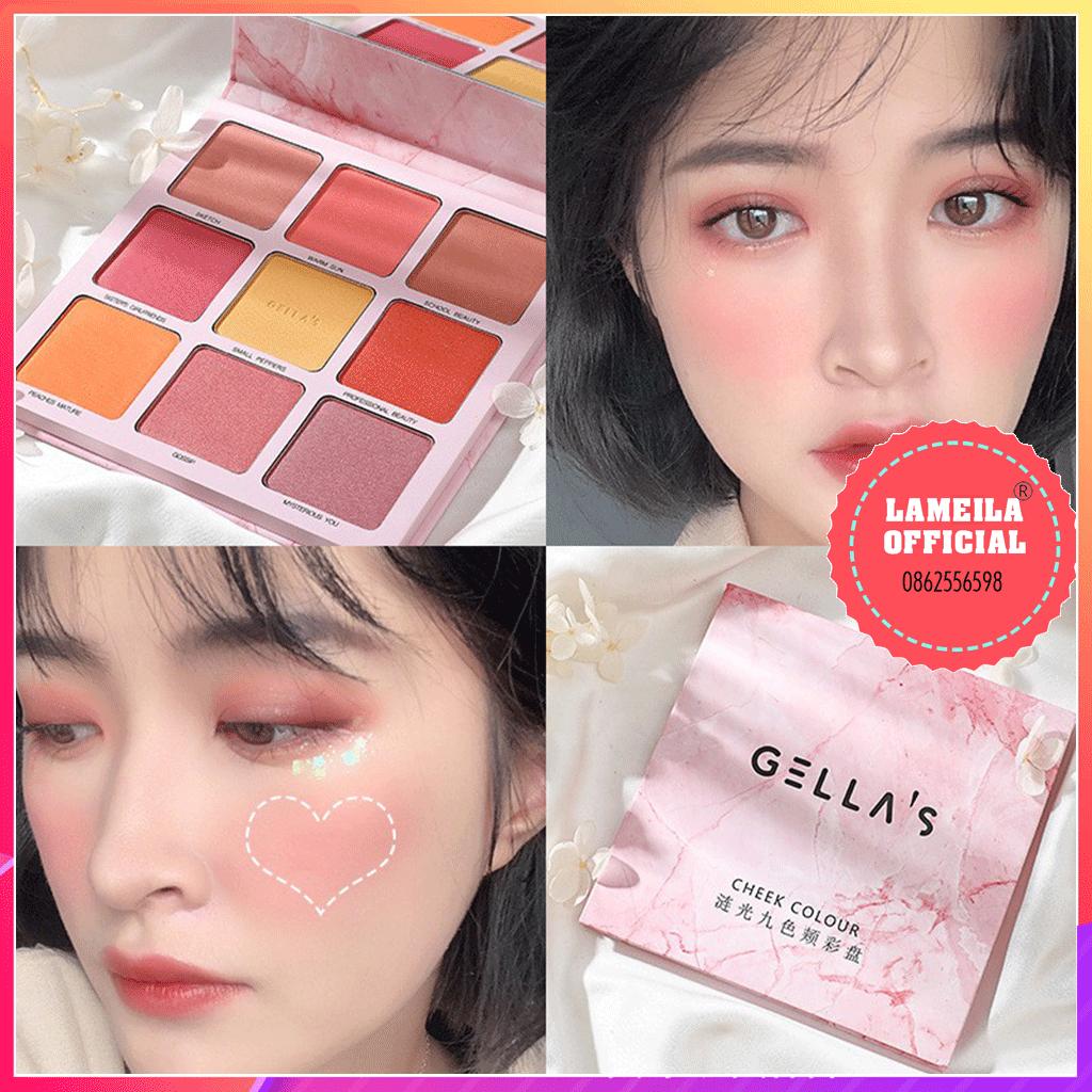 Bảng phấn mắt kèm má hồng Gellas Cheek Color P0068