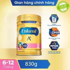[FREESHIP 30K TOÀN QUỐC] Sữa bột Enfamil A+ 2 cho trẻ từ 6-12 tháng tuổi (830g) – Cam kết HSD còn ít nhất 10 tháng