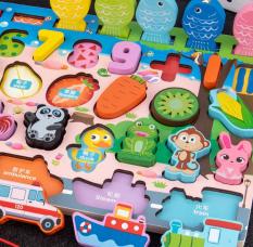 Bộ bảng số thông minh kèm đồ chơi câu cá cho bé, đồ chơi gỗ phát triển trí tuệ