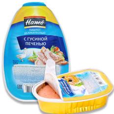 (Date : 01/2023) [ NGON KHÔNG THỂ CƯỠNG ] 01 Hộp x 105gram Pate gan ngỗng Hamecủa Nga.
