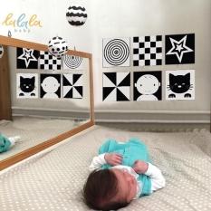Bộ 6 thẻ dán tường KÍCH THÍCH THỊ GIÁC cho bé sơ sinh lalala baby giúp bé phát triển toàn diện