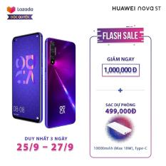 [ĐỘC QUYỀN LAZADA] Điện thoại Huawei Nova 5T (8GB/128GB) Phân phối chính hãng – 5 Camera AI 48MP, Kirin 980, Sạc nhanh 22.5W, Pin 3750mAh