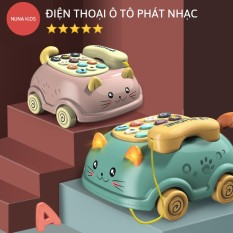 Điện thoại ô tô đồ chơi NUNAKIDS có nhạc và đèn cho bé cao cấp đồ chơi phát nhạc thông minh cho bé từ 1 – 3 tuổi