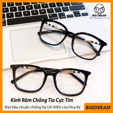 [HCM]Mắt kính giả cận cao cấp gọng dẻo dành cho cả nam và nữ BBR8046 – Gọng kính cận không độ Hàn Quốc – Bảo hành 12 tháng – Tặng kèm hộp + Khăn Lau