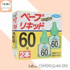 Tinh Dầu Đuổi Muỗi Nhật Bản 60 Ngày (Hộp 2 Chai)
