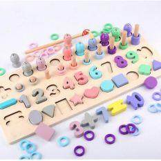 Bộ câu cá xếp số học Toán Montessori mới mẫu đẹp