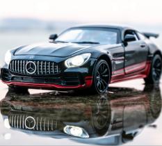 Mô hình siêu xe thể thao Mercedes có đèn, nhạc thích hợp cho việc trang trí phòng làm việc hoặc làm đồ chơi cho các bé